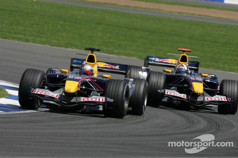Christian Klien y David Coulthard