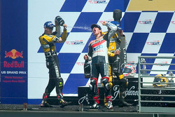 Podium: 1. Nicky Hayden; 2. Colin Edwards; 3. Valentino Rossi