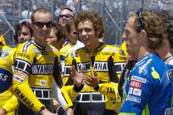 Colin Edwards, Valentino Rossi et Sete Gibernau