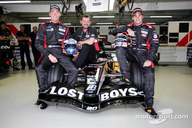 Robert Doornbos, Paul Stoddart y Christijan Albers