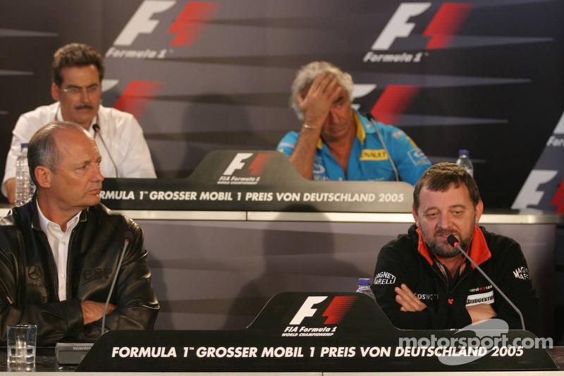 Conferencia de prensa: Ron Dennis, Paul Stoddart, Dr Mario Theissen y Flavio Briatore