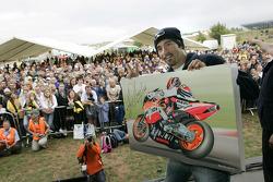 Max Biaggi at a public appearance