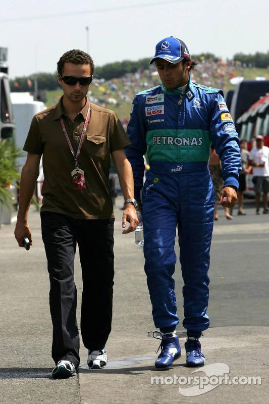 Felipe Massa con Nicolas Todt