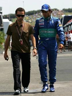 Felipe Massa with manager Nicolas Todt