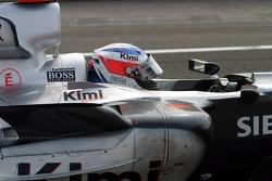 Race winner Kimi Raikkonen