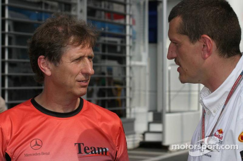 Mario Illien y Gunther Steiner