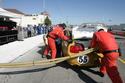 Pitstop for #55 Multimatic Motorsports Mustang GT: Gunnar Jeannette, James Gue