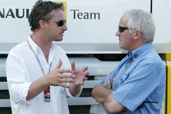 Eddie Irvine and Charlie Whiting