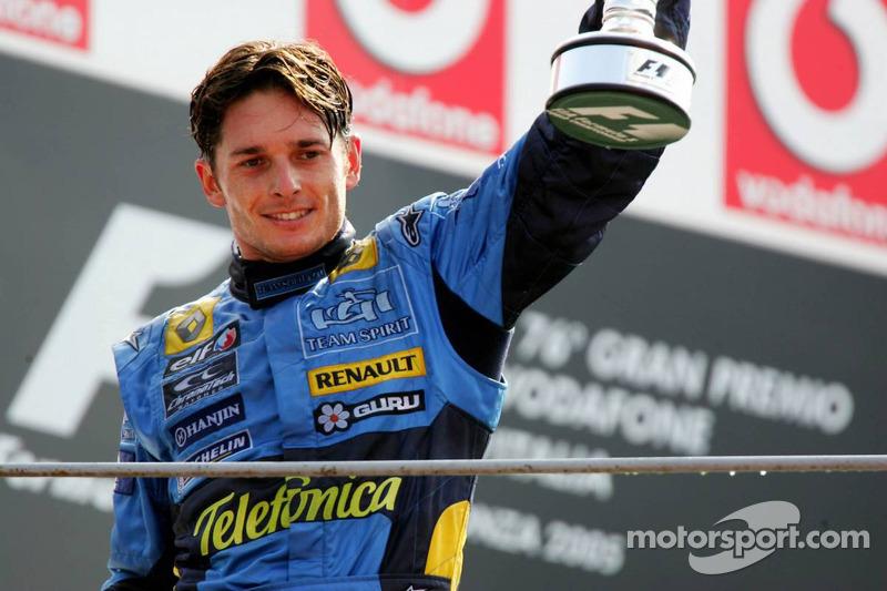 Podio:  tercer lugar Giancarlo Fisichella