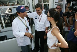 Alex Zanardi, Dr Mario Theissen and Connie Montoya