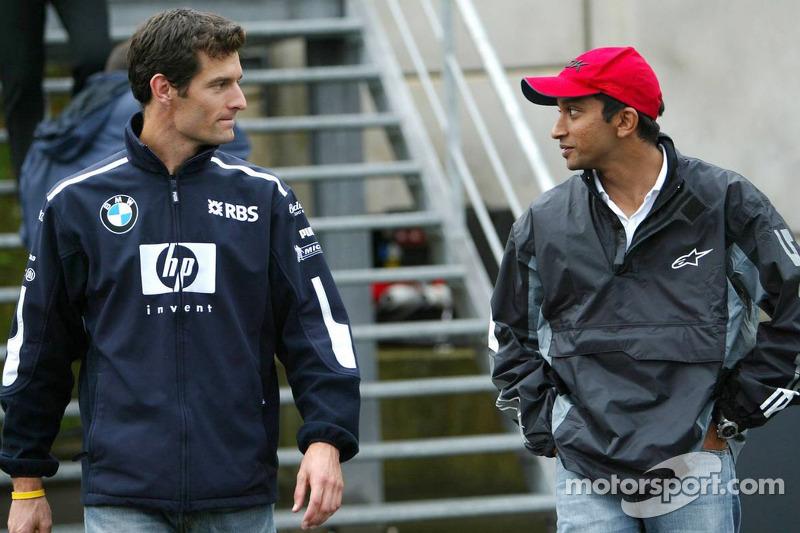 Mark Webber y Narain Karthikeyan