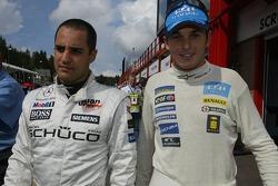 Juan Pablo Montoya et Giancarlo Fisichella