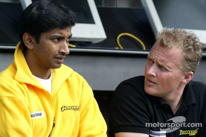 Narain Karthikeyan and Johnny Herbert