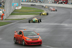 Pace car leads the field to pace lap