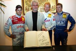 DTM visits Senftenberg: Pierre Kaffer, Klaus-Jürgen Grasshoff, Stefan Mücke and Marcel Fassler