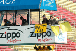 Safety Car from the flag stand