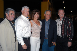 Al Unser, Sr., newlyweds Wyatt and Joyce Swaim, Albuquerque Mayor Martin Chavez and Al Unser, Jr.