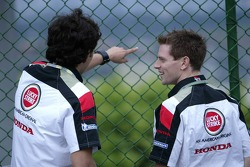 Enrique Bernoldi and Anthony Davidson