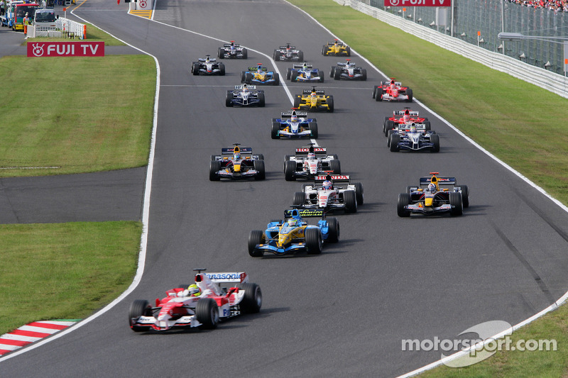 Arrancada: Ralf Schumacher líder