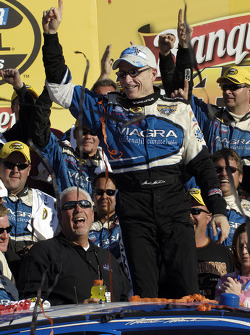 Victory lane: race winner Mark Martin