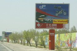 Billboard for the GP2 race at Bahrain