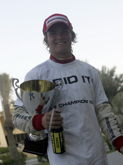 Race winner Nico Rosberg celebrates
