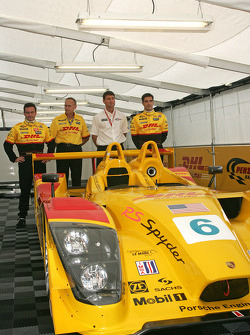 Presentation of the Penske Motorsports Porsche RS Spyder LMP2: Sascha Maassen, Jeff Swartwout, Tim Cindric and Lucas Luhr