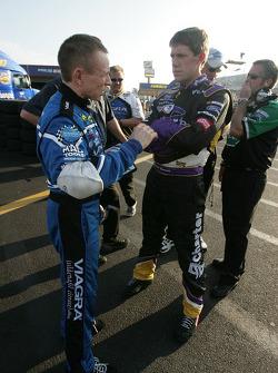 Mark Martin and Carl Edwards