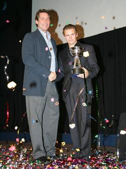 IRL champion Dan Wheldon with Tony George