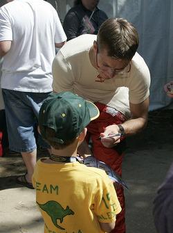 Sébastien Bourdais signs autographs