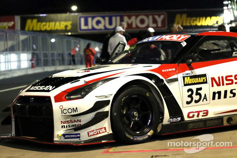 #35 NISMO Athlete Global Team, Nissan GT-R NISMO GT3: Florian Strauss, Katsumasa Chiyo, Wolfgang Reip