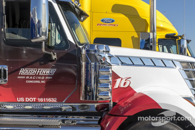 Roush-Fenway Racing haulers