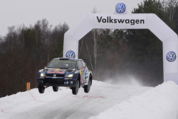 Jari-Matti Latvala (FIN), Miikka Anttila (FIN) Volkswagen Polo R WRC (2015) Rally di Svezia 2015