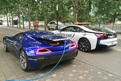 De volledig elektrische Rimac Automobili hypercar