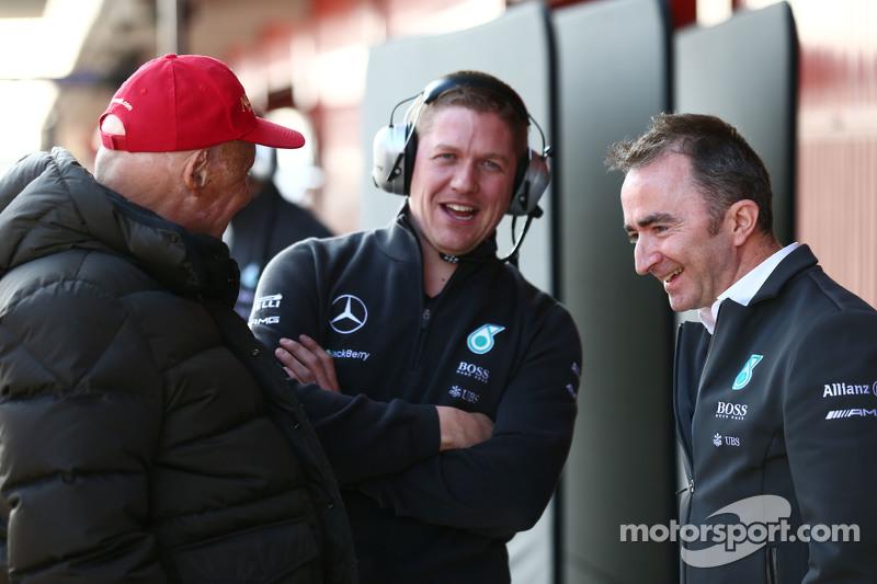 Niki Lauda, Aufsichtsratsvorsitzender Mercedes AMG F1, mit Paddy Lowe, Mercedes AMG F1, Teamchef