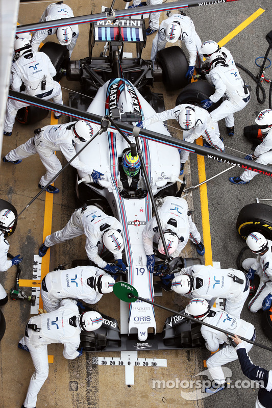 Felipe Massa, Williams FW37 treina o pit stop