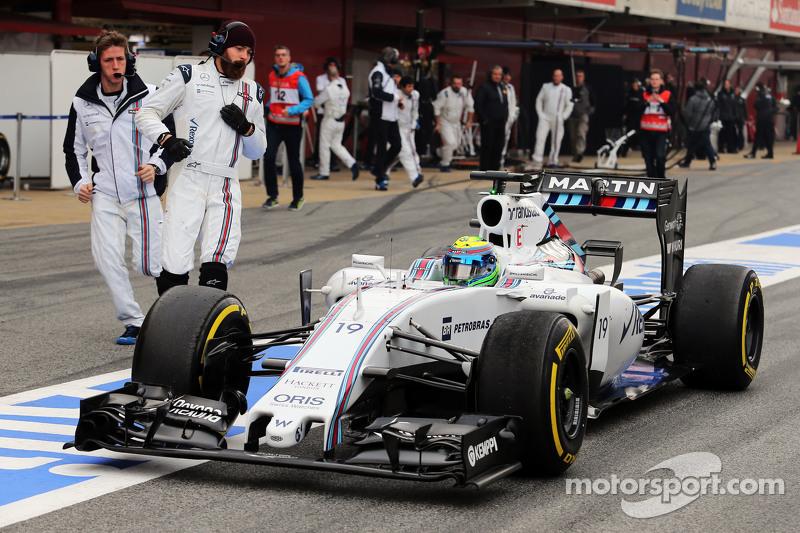 Felipe Massa, Williams FW37, in der Box