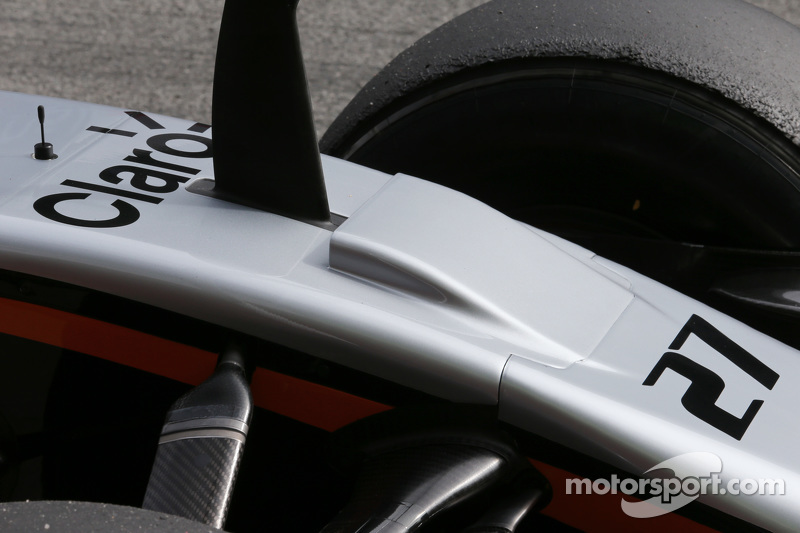 Sahara Force India F1 VJM08 nosecone detail