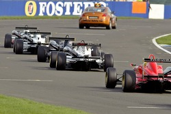 The safety car was called out to lead the pack round while debris was cleared from an incident