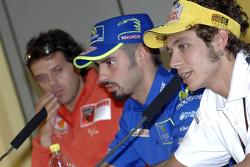 Conferencia de prensa: Loris Capirossi, Marco Melandri y Valentino Rossi