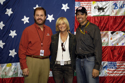 Texas Motor Speedway President Eddie Gossage, Kyle Petty and wife Patty during a press conference for the Victory Junction Camp