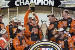 Champagne for NASCAR Nextel Cup 2005 champion Tony Stewart