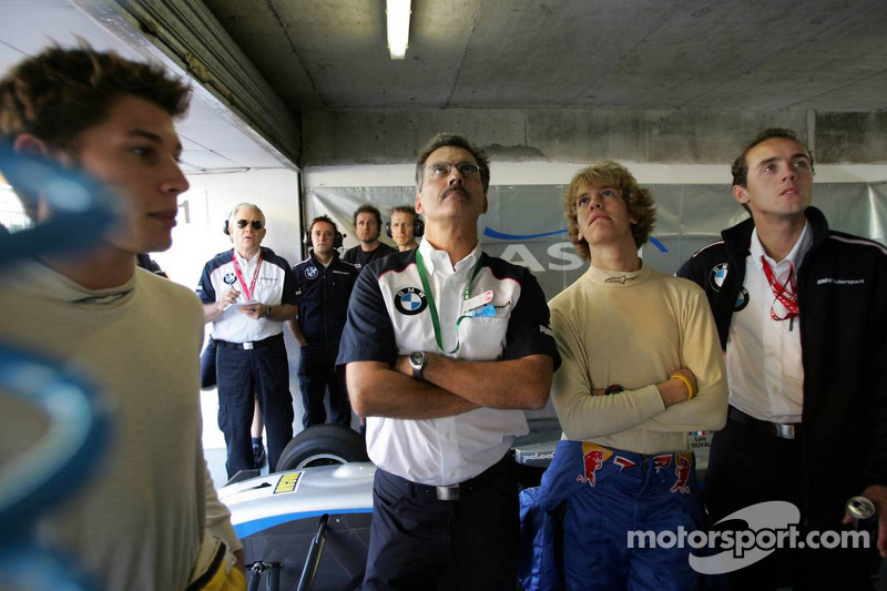 Dr. Mario Theissen y Sebastian Vettel