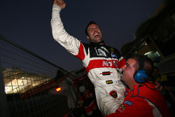 Gabriele Gardel celebrates FIA GT1 Drivers Championship, before his disqualification of the meeting