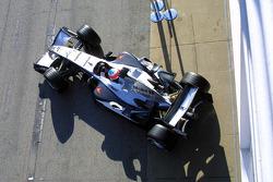 Gary Paffett leaves the garage