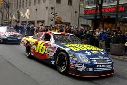 Greg Biffle drives through Times Square