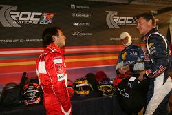 Felipe Massa, Nelson A. Piquet and David Coulthard