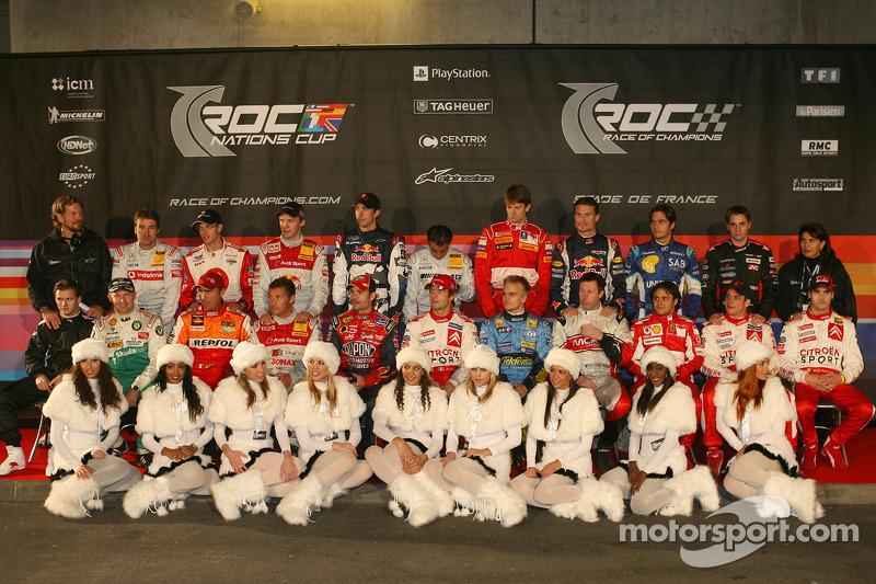 Foto de grupo de los pilotos de la Carrera de Campeones 2005