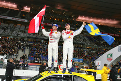 Nations Cup 2005 winners Tom Kristensen and Mattias Ekström celebrate