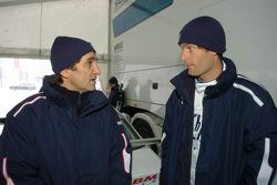 Mark Webber BMW WilliamsF1 Team driver 2005 with Alex Zanardi